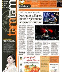 TAM TAM il Giornale di Vicenza 18.09.2018 intervista a DAX DJ